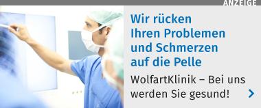 Wir rücken Ihren Problemen und Schwerzen auf die Pelle! WolfartKlinik - bei uns werden Sie gesund.