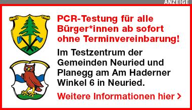 PCR-Testung für alle ab sofort ohne Terminvereinbarung